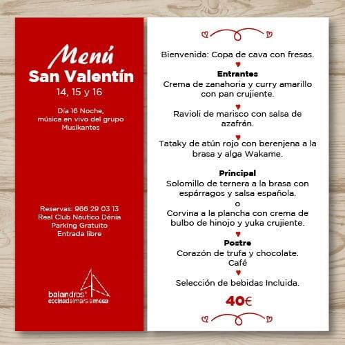 Vive San Valentín en Dénia en el Real Club Náutico de Dénia